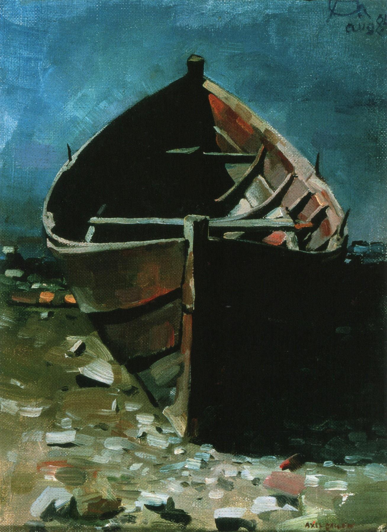 Beached Boat at Daybreak, Akseli Gallen-Kallela - 1884